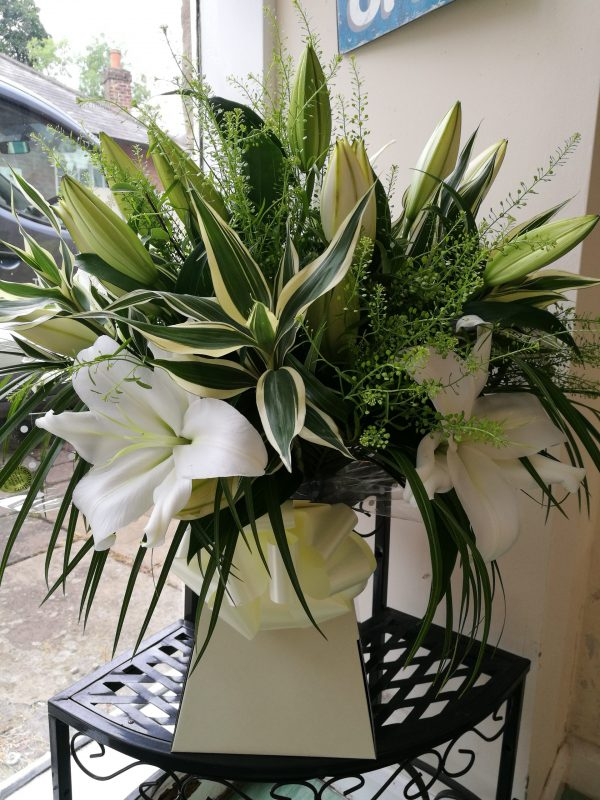Luxury white lily bouquet